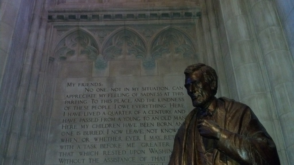 The Lincoln statue in the Washington National Cathedral. (Photo by Michael E. Grass)