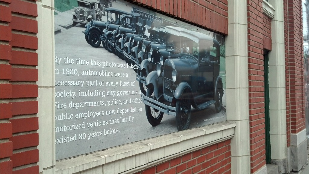 The history of Pittsburgh's Auto Row is on full display on a building on Baum Boulevard. (Photo by Michael E. Grass)