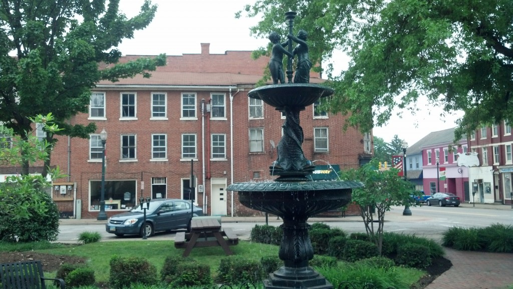 The town square in Lisbon, Ohio (Photo by Michael E. Grass)