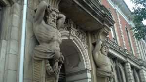 Architectural ornamentation on the Wayne County Courthouse in Wooster, Ohio (Photo by Michael E. Grass)