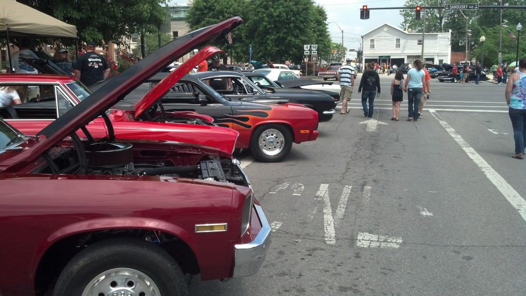 The Bucyrus Graffiti Cruise  brought hundreds of vintage cars to the streets of this Ohio city. (Photo by Michael E. Grass)
