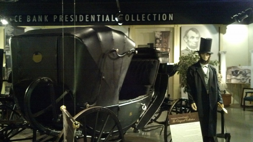 The carriage Abraham Lincoln used the night of his assassination is on display at the Studebaker National Museum in South Bend, Ind.