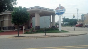 A historic gas station in Rochelle, Ill. (Photo by Michael E. Grass)