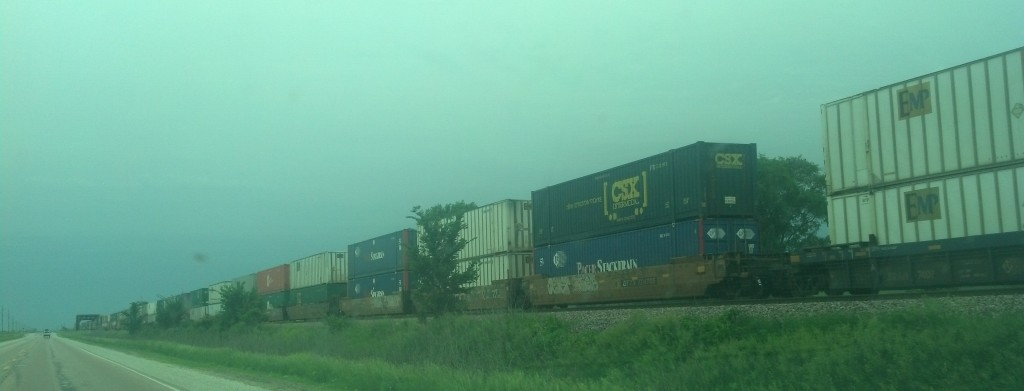 Rail traffic is busy along the Union Pacific. (Photo by Michael E. Grass)