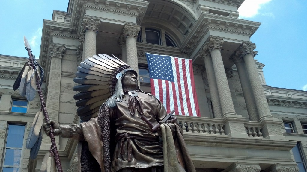 Chief Washakie outside the Wyoming State Capitol building in Cheyenne. (Photo by Michael E. Grass)