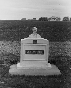 John Vachon photographed this statue of Lincoln near Scranton, Iowa, as part of his travels in April 1940 with the Farm Security Administration. (Photo via Library of Congress >>)