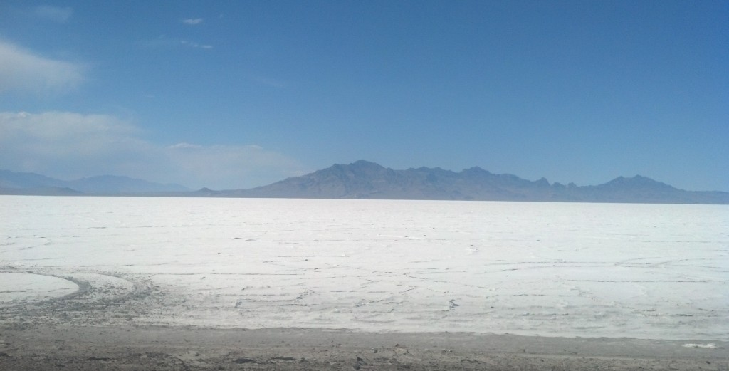 The Bonneville Salt Flats near Wendover, Utah (Photo by Michael E. Grass)