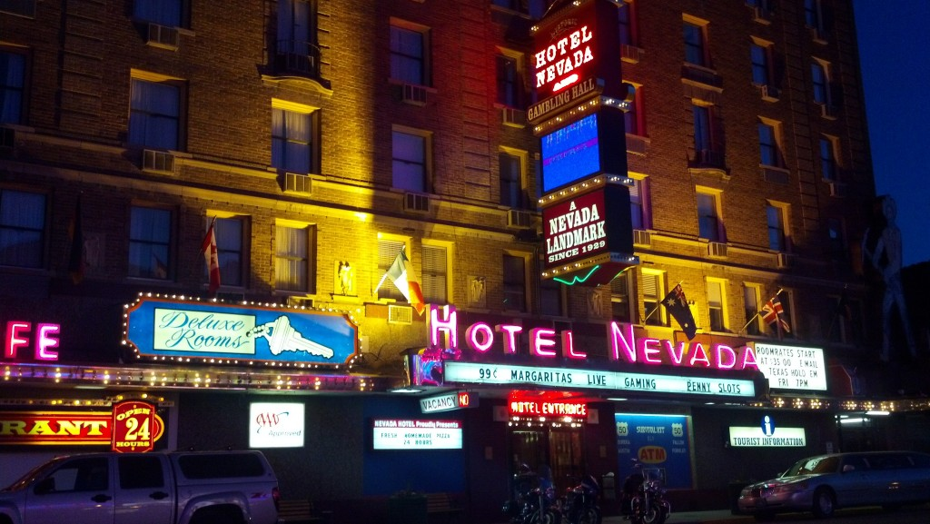 The Hotel Nevada is the flashiest place in Ely, Nev. (Photo by Michael E. Grass)