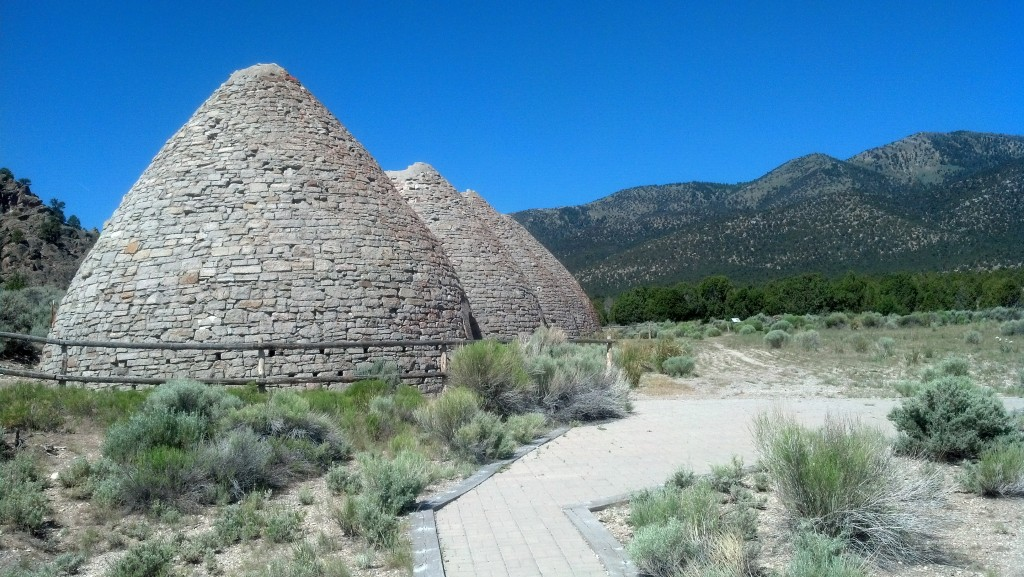 The charcoal ovens at the ghost town of Ward, Nev. (Photo by Michael E. Grass)