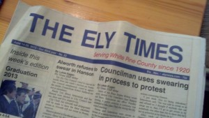 The June 14-20 edition of The Ely Times. (Photo by Michael E. Grass)