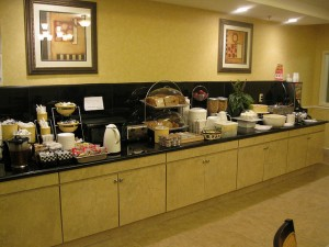 This La Quinta Inn breakfast room is in Birmingham, Ala., but it might as well be anywhere in the United States. (Photo by Flickr user javajoba via CC by 2.0 >>)