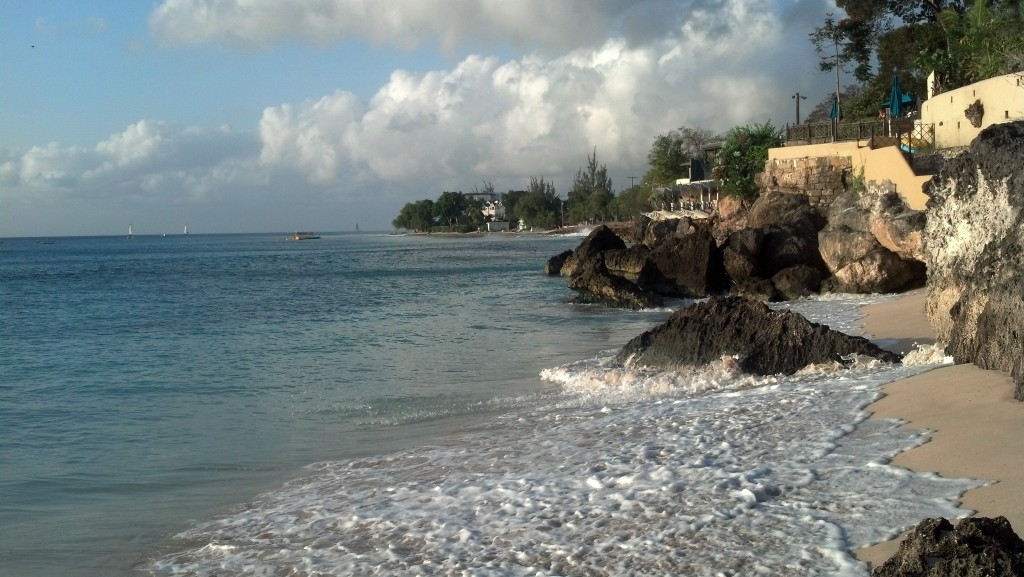 Looking north toward Mahogany Bay in St. James Parish, Barbados, where I stayed this past winter. (Photo by Michael E. Grass)