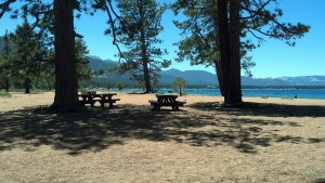 Nevada Beach, near the Nevada-California state line on the southern end of Lake Tahoe. (Photo by Michael E. Grass)