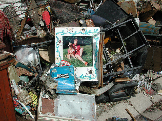 Damage from Hurricane Katrina in New Orleans. (Photo by Flickr user EditorB via CC BY 2.0 >>)