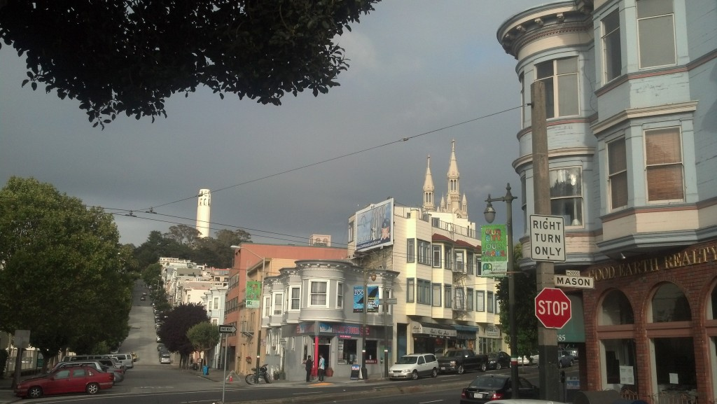 Looking toward Coit Tower in San Francisco (Photo by Michael E. Grass)