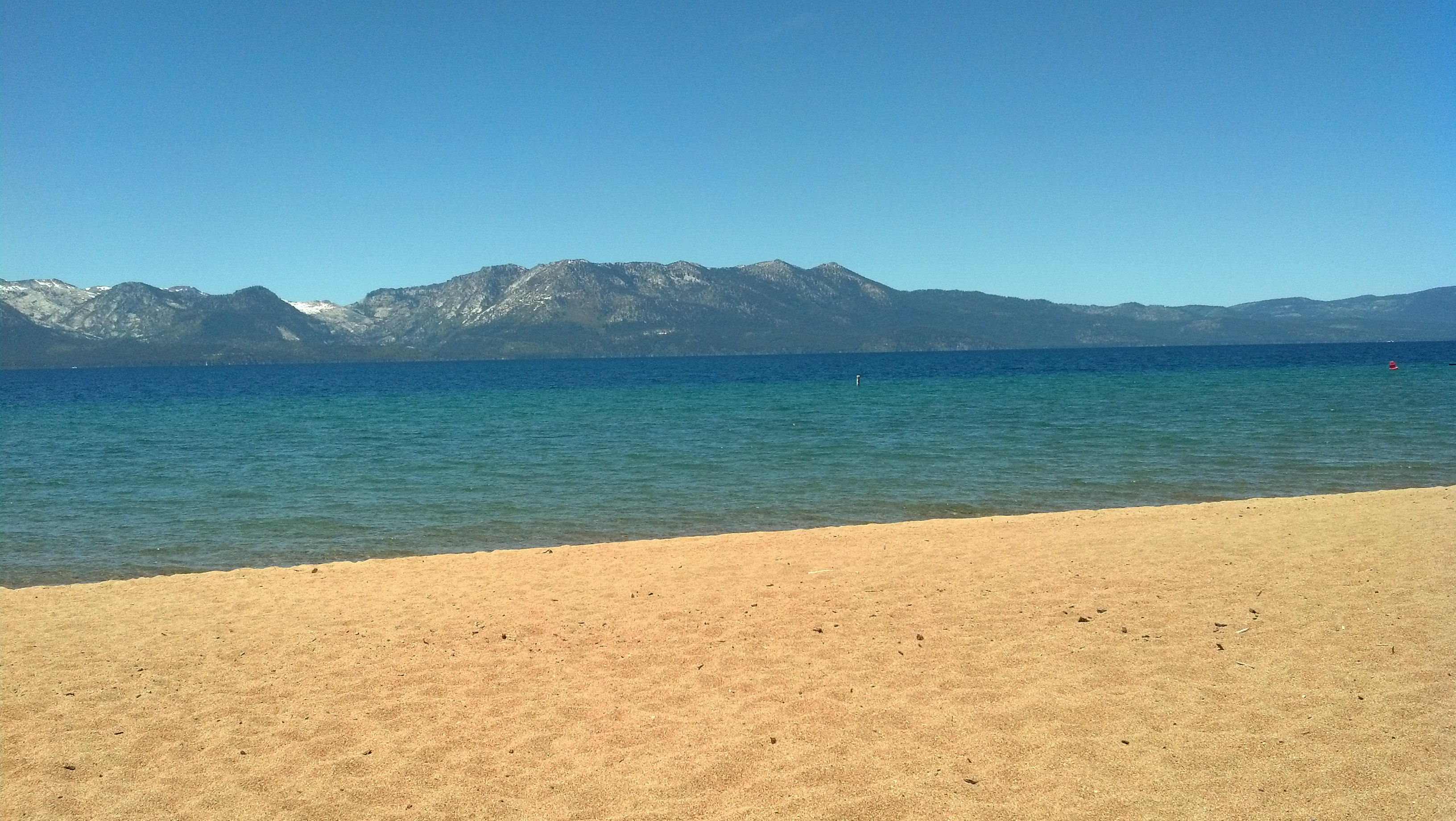 The View Of California From Nevada Beach In Zephyr Cove Nev Photo By